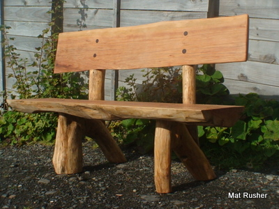 wood bench design with backrest